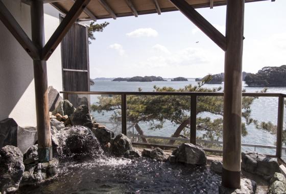 Onsen overlooking Matsushima Bay